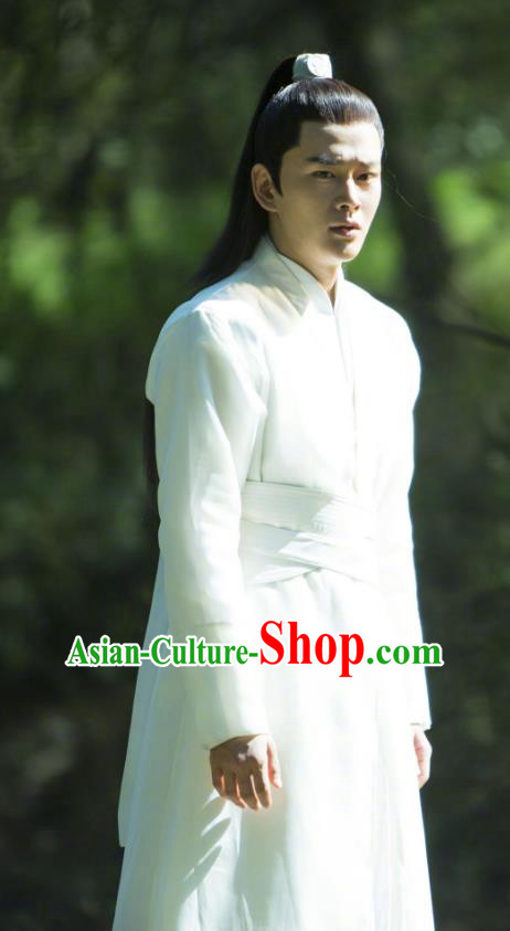 Legend Of Fu Yao Chinese Ancient Swordsman Taoist Priest Historical Costume for Men