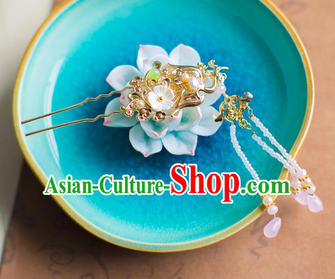 Chinese Traditional Palace Hair Accessories Step Shake Ancient Xiuhe Suit Hairpins for Women