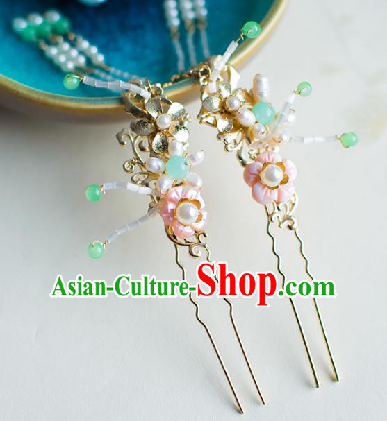 Chinese Traditional Palace Hair Accessories Xiuhe Suit Hair Clip Ancient Tassel Hairpins for Women
