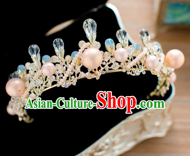 Baroque Bride Hair Accessories Princess Royal Crown Wedding Classical Pearls Imperial Crown for Women
