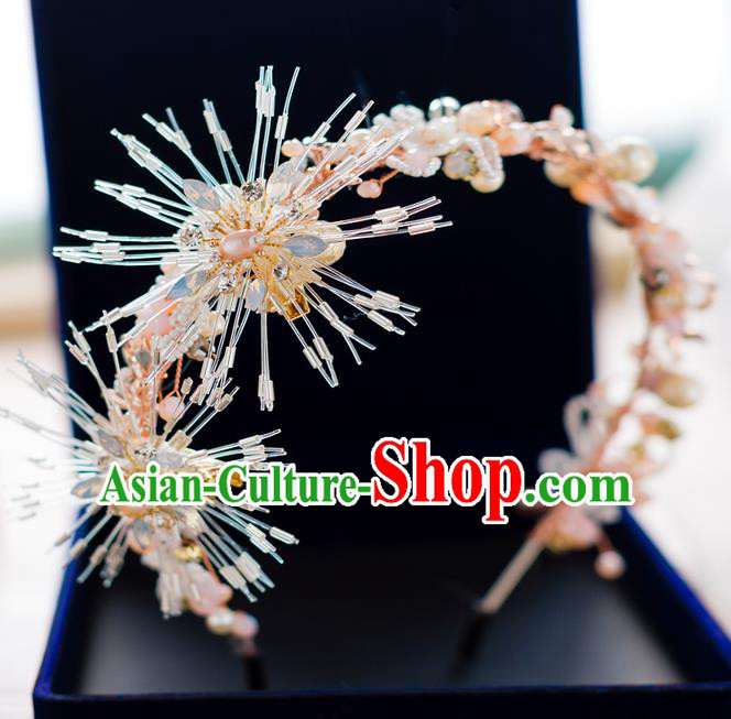 Top Classical Bride Hair Accessories Wedding Pearls Hair Clasp Royal Crown Headwear for Women