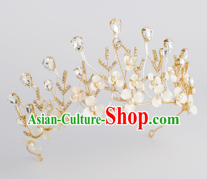 Baroque Princess Golden Royal Crown Bride Classical Hair Accessories Wedding Crystal Imperial Crown for Women