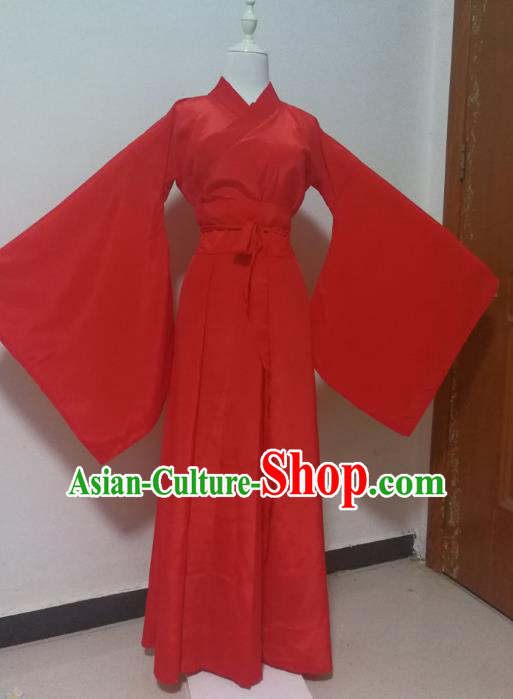 Chinese Traditional Dance Hanfu Dress Ancient Princess Wedding Costume for Women