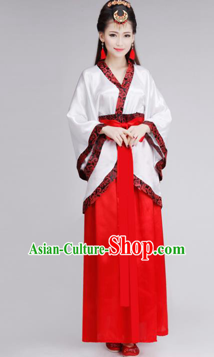 Chinese Traditional Hanfu Dress Ancient Han Dynasty Princess Costume for Women