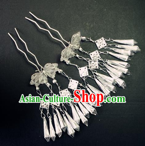 Chinese Traditional Palace Hair Accessories Ancient Tassel Hairpins Hair Clips for Women