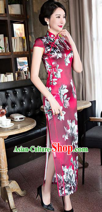 Chinese Top Grade Elegant Qipao Dress Traditional Republic of China Tang Suit Cheongsam for Women