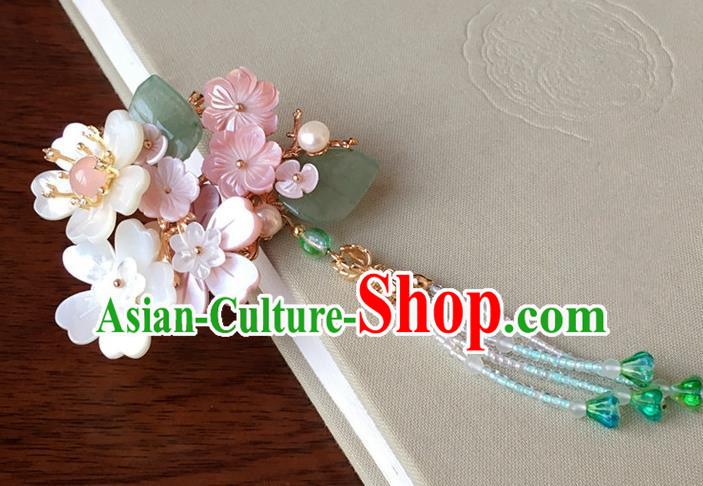 Traditional Handmade Chinese Ancient Classical Hair Accessories Flowers Hair Stick Tassel Hairpins for Women
