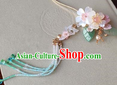 Traditional Handmade Chinese Ancient Classical Hair Accessories Flowers Step Shake Tassel Hairpins for Women