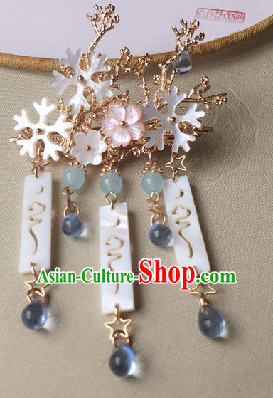 Traditional Handmade Chinese Ancient Classical Hair Accessories Hairpins Tassel Jade Hair Stick for Women