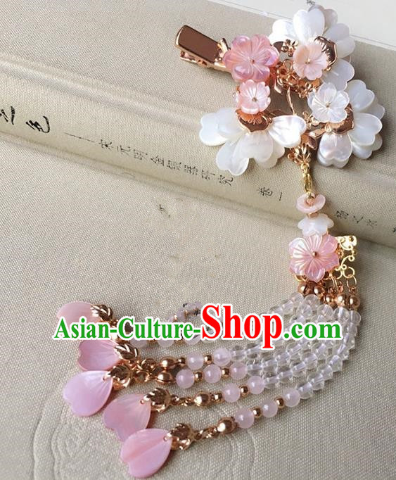 Traditional Handmade Chinese Ancient Classical Hair Accessories Hairpins Beads Tassel Hair Claw for Women