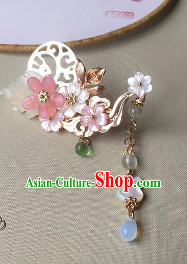 Traditional Handmade Chinese Ancient Classical Hair Accessories Hairpins Shell Hair Claws for Women