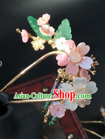 Traditional Handmade Chinese Ancient Classical Hair Accessories Flowers Hairpins Hair Stick for Women