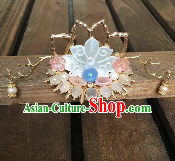 Traditional Handmade Chinese Ancient Classical Hair Accessories Lotus Hair Stick Hairpins for Women