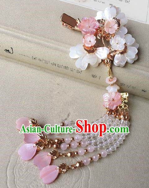 Traditional Handmade Chinese Ancient Classical Hair Accessories Tassel Hair Claw Hanfu Hairpins for Women