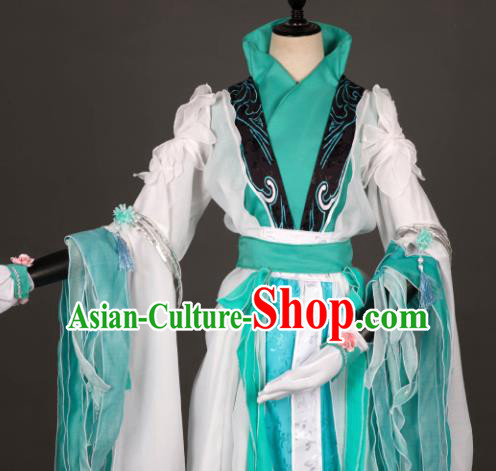 Chinese Ancient Costume Cosplay Swordswoman Hanfu Clothing for Women