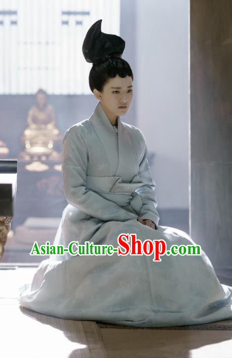 Chinese Ancient Court Maid Costume Untouchable Lovers Northern and Southern Dynasties Palace Lady Embroidered Replica Costumes for Women