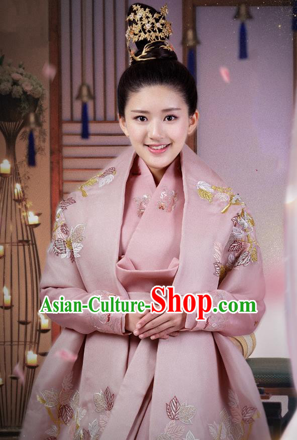 Chinese Ancient Princess Costume Untouchable Lovers Northern and Southern Dynasties Palace Lady Embroidered Replica Costumes for Women
