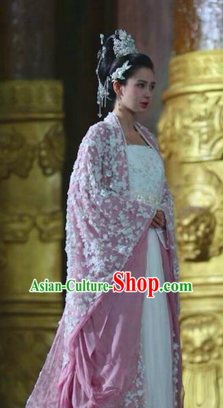 Chinese Ancient Princess Consort Hanfu Dress Northern and Southern Dynasties Palace Princess Embroidered Replica Costumes for Women