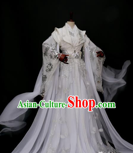 Traditional Chinese Princess Costume Ancient Imperial Concubine Embroidered Hanfu Dress for Women