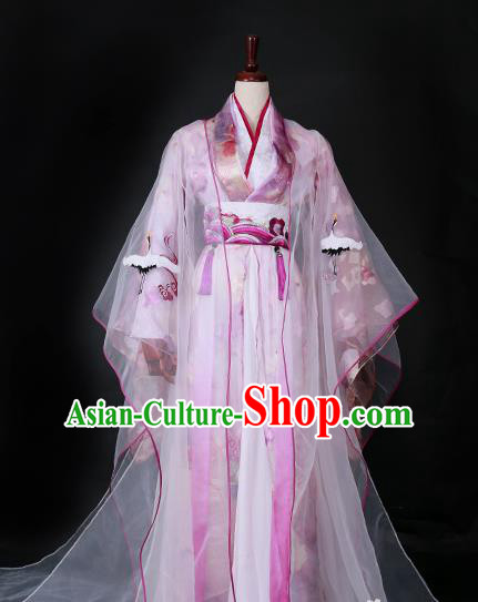 Traditional Chinese Princess Costume Ancient Han Dynasty Imperial Concubine Embroidered Hanfu Dress for Women