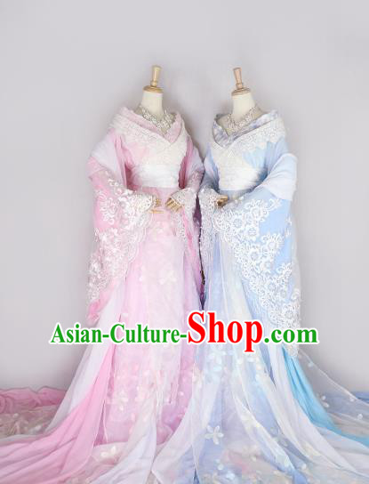 Chinese Ancient Cosplay Princess Hanfu Dress Tang Dynasty Palace Lady Embroidered Costume for Women
