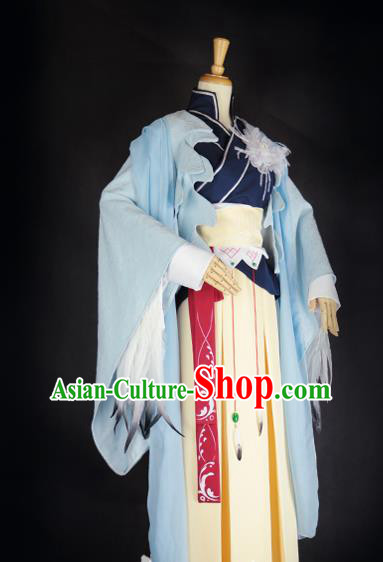 Chinese Ancient Cosplay Swordswoman Hanfu Dress Han Dynasty Taoist Nun Costume for Women