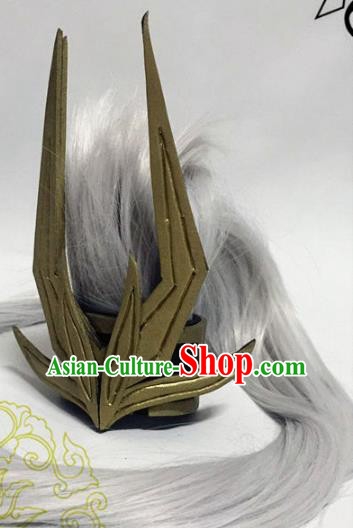Chinese Traditional Handmade Swordsman Hair Accessories Ancient Knight Hairdo Crown Headwear for Men