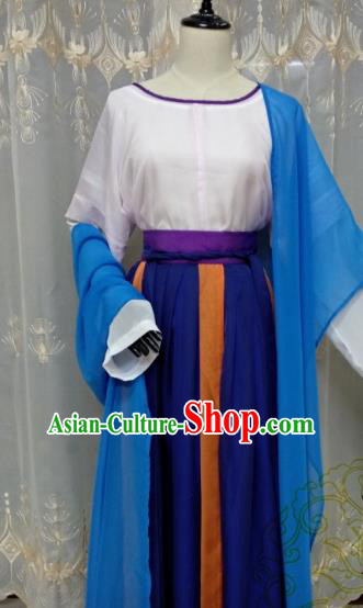 Chinese Ancient Court Maid Costume Cosplay Swordswoman Clothing Tang Dynasty Palace Lady Hanfu Dress for Women