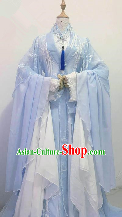 Chinese Ancient Costume Cosplay Princess Clothing Song Dynasty Palace Lady Hanfu Dress for Women