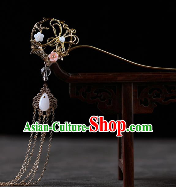 Chinese Traditional Handmade Hair Accessories Ancient Hairpins Hanfu Golden Hair Clip for Women