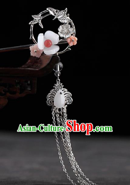 Chinese Traditional Handmade Hair Accessories Ancient Hairpins Hanfu Tassel Hair Clip for Women