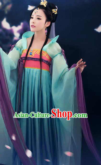 Traditional Chinese Ancient Palace Lady Costume Tang Dynasty Imperial Concubine Embroidered Clothing for Women