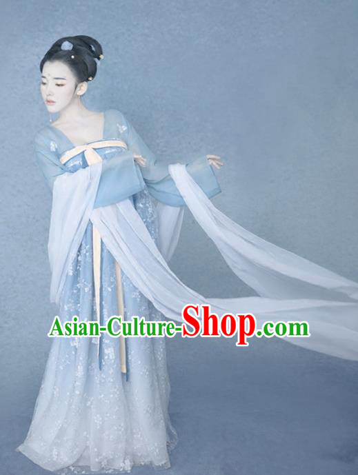Chinese Traditional Tang Dynasty Palace Lady Hanfu Dress Ancient Princess Costume for Women