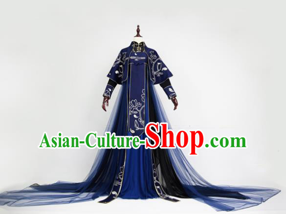 Chinese Ancient Cosplay Swordswoman Costume Tang Dynasty Palace Lady Embroidered Hanfu Dress for Women