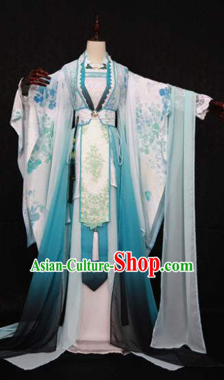 Chinese Ancient Cosplay Fairy Swordswoman Costume Han Dynasty Princess Embroidered Hanfu Dress for Women