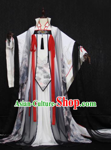 Chinese Ancient Cosplay Imperial Princess Costume Tang Dynasty Palace Lady Embroidered Hanfu Dress for Women