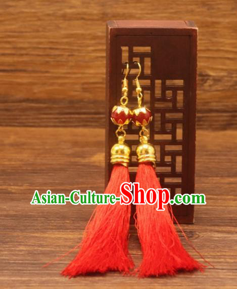 Traditional Chinese Jewelry Accessories Ancient Hanfu Earrings for Women