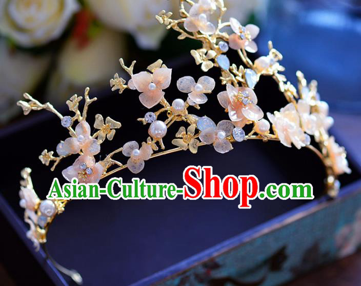 Baroque Style Hair Jewelry Accessories Bride Flowers Royal Crown Princess Hair Clasp for Women
