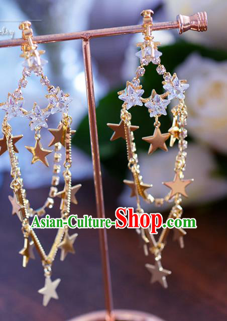 Top Grade Handmade Jewelry Accessories Ancient Crystal Zircon Earrings for Women