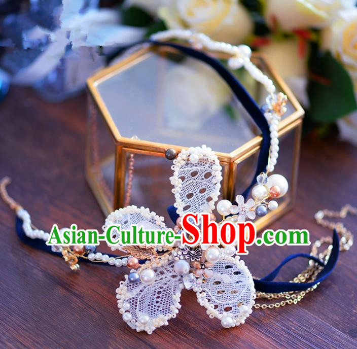 Top Grade Handmade Hair Accessories Bride Beads Hair Clasp Headwear for Women