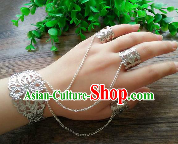 Chinese Ancient Handmade Wedding Jewelry Accessories Bracelet with Rings for Women