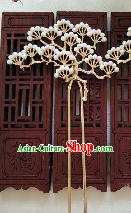 Ancient Chinese Handmade Classical Hair Accessories Pineburst Hairpins Hair Clip for Women