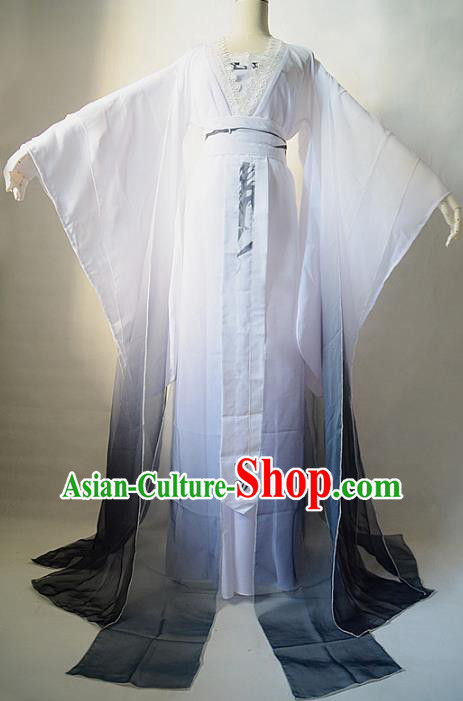 Chinese Ancient Cosplay Princess Costume Jin Dynasty Palace Lady Swordswoman Hanfu Dress for Women