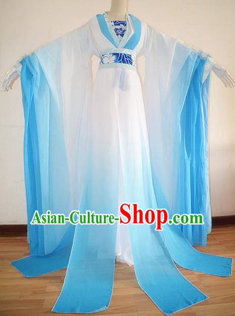 Chinese Ancient Cosplay Fairy White Hanfu Dress Traditional Tang Dynasty Princess Embroidered Costume for Women