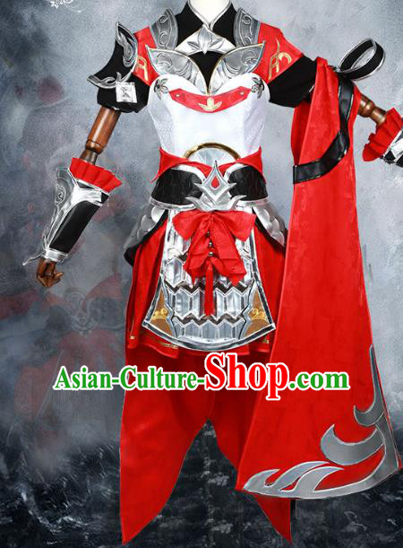 Chinese Traditional Ancient Young Lady Swordswoman Female General Costume for Women