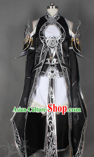 Chinese Traditional Ancient Female Knight Blade Clothing Cosplay Swordswoman Costume for Women