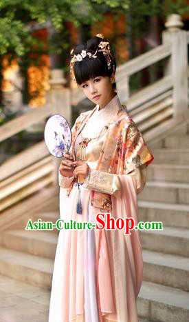 Chinese Traditional Ancient Song Dynasty Princess Costume for Women