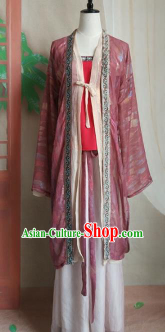 Chinese Traditional Ancient Song Dynasty Young Lady Swordswoman Costumes for Women