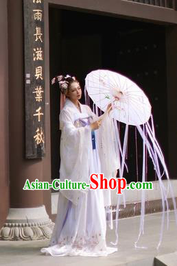 Chinese Ancient Tang Dynasty Imperial Concubine Embroidered Dress Nobility Lady Costumes for Women
