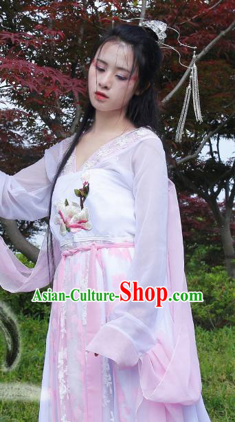 Chinese Tang Dynasty Princess Hanfu Dress Ancient Fairy Traditional Clothing for Women